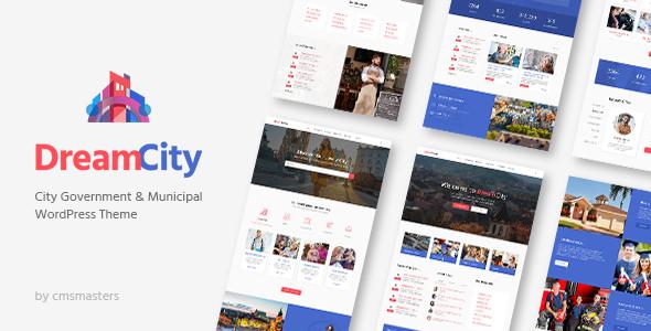 Dream City v1.0.7 — City Portal & Government Municipal Theme