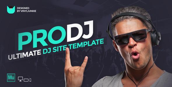 ProDJ — Creative DJ / Producer Site Muse Template