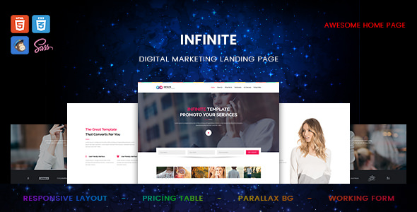Infinite — Digital Marketing Landing Page