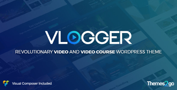Vlogger v1.5.4 — Professional Video & Tutorials WordPress Theme