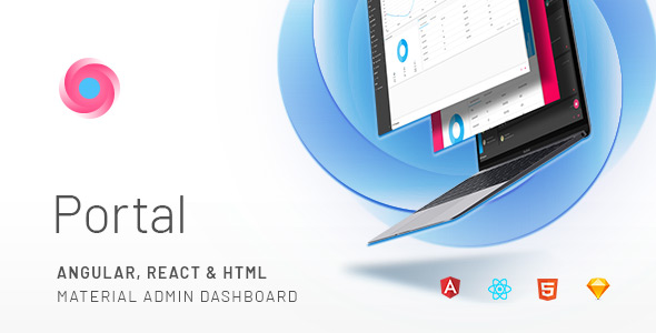Portal — Angular, React & HTML Material Admin Template