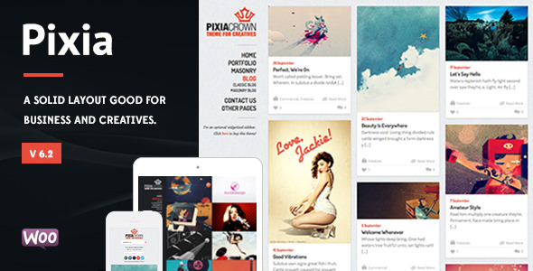 Pixia v6.2 — Showcase WordPress Theme