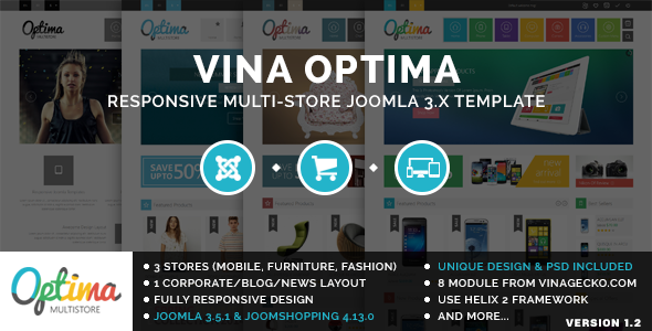 Vina Optima v1.2 — Multi-Store Joomla 3.x Template