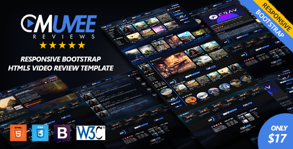 Muvee Reviews — Video/Movie Responsive HTML5 Bootstrap Template
