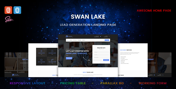 Swan Lake — Marketing Landing Page