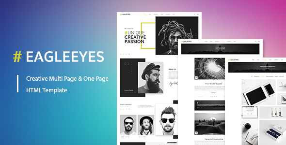 EAGLEEYES — Creative multipages and One page HTML5 Template