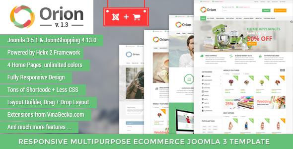 Orion — Businesses & e-Commerce Joomla Template