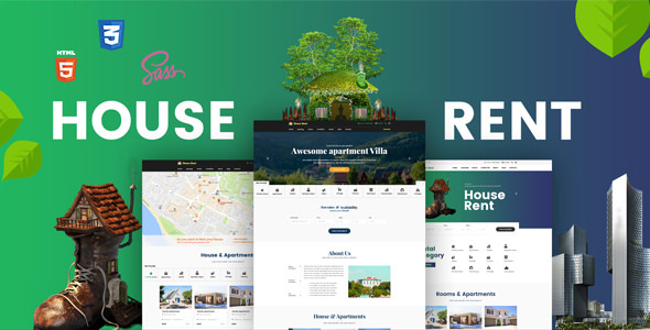 HouseRent — Multi Concept House, Apartment Rent HTML Template