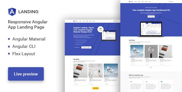 Angular Landing — Material Design Angular App Landing Page