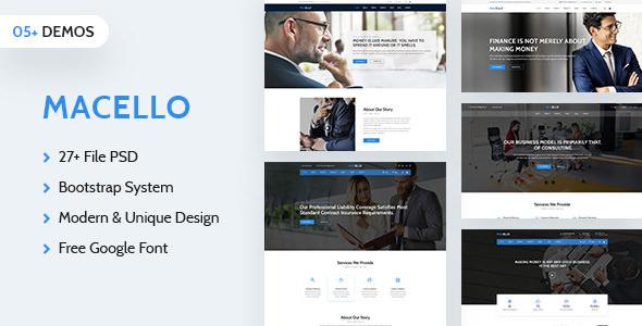 Macello — Business Psd Template