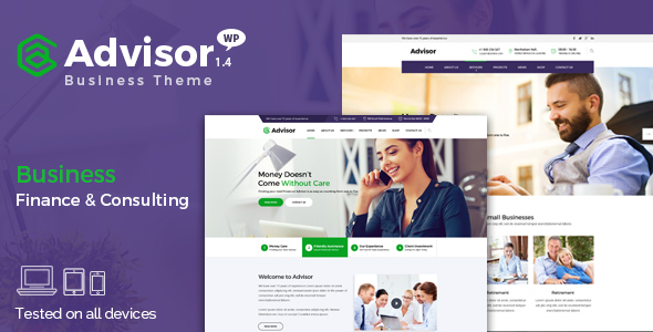 Advisor v1.4.1 — Consulting, Business, Finance Theme