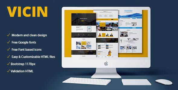 Vicin — Multipurpose Construction & Plumbing HTML Template