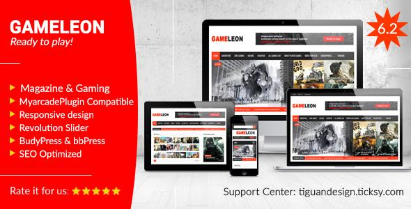 Gameleon v6.2 — WordPress Magazine & Arcade Theme