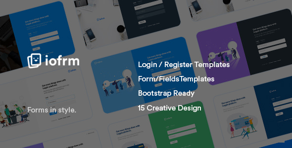 Iofrm — Login and Register Form Templates