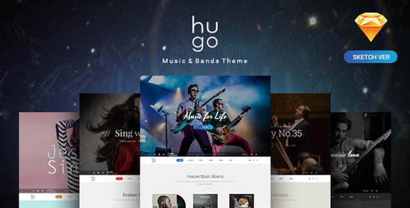 Hugo — Music & Bands Sketch Templates