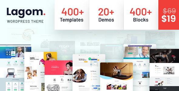 Lagom v1.0.4 — Multi Concept MultiPurpose WordPress Theme