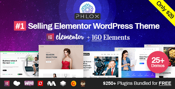 Phlox Pro v5.0.11 — Elementor MultiPurpose WordPress Theme