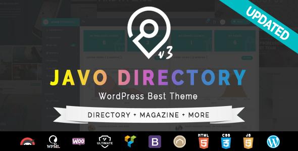 Javo Directory v3.3.9 — WordPress Theme