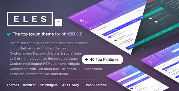Eles v2.4.0 — Responsive phpBB 3.2 Theme