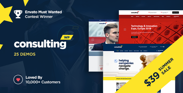 Consulting v4.1.6 — Business, Finance WordPress Theme