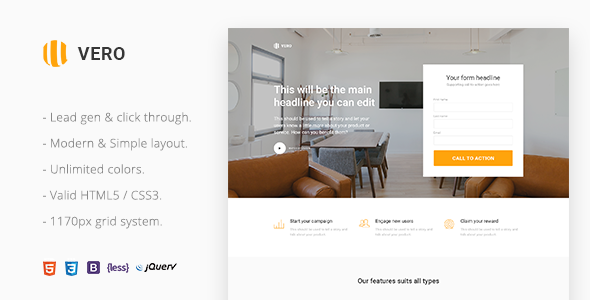 Vero v2.0 — Marketing Landing Page Html Template