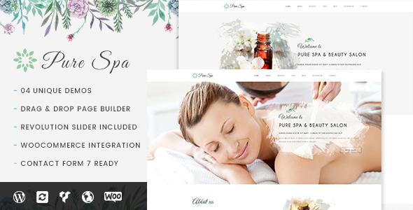 Pure v1.0.2 — Spa & Beauty Responsive WordPress Theme
