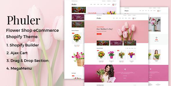 Phuler v1.0.1 — Flower Shop Shopify Theme + DropShipping