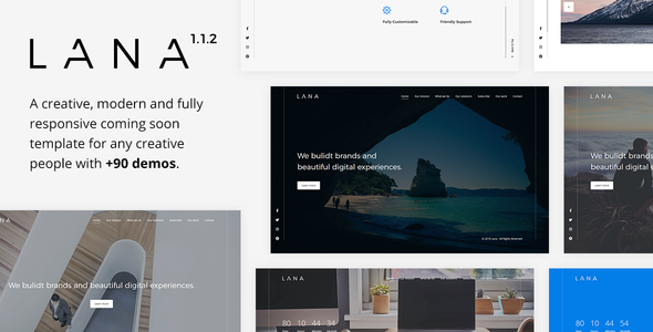 Lana v1.1.2 — Creative Coming Soon Template