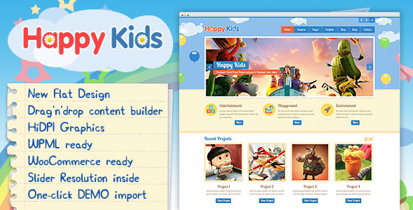 Happy Kids v3.4.7 — Children WordPress Theme