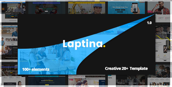 Laptina — Multi-Purpose Business & Financial Professional, Consulting PSD Template