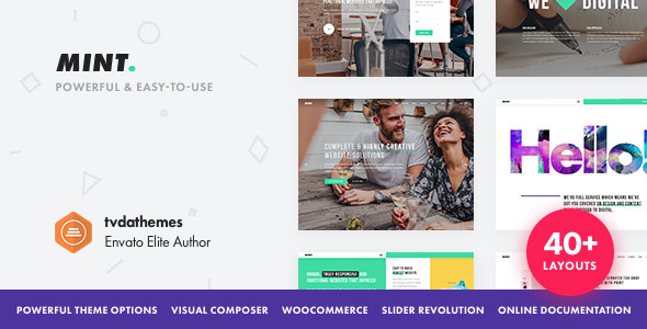 Mint v2.0.5 — Creative Multi-Purpose WordPress Theme