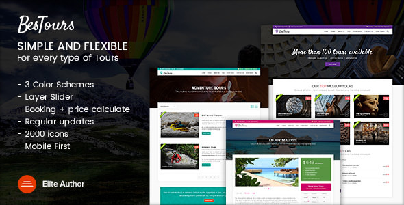 BESTOURS v1.1 — Tours, Excursions and Travel multipurpose template