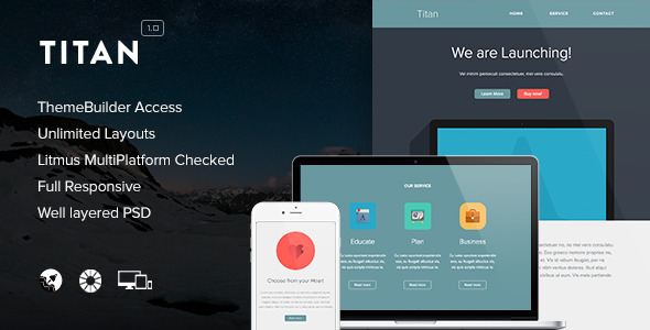 Titan v1.1 — Responsive Email + Themebuilder Access