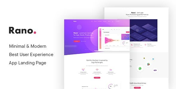 Rano — Landing Page HTML Template