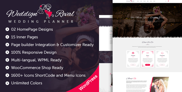Wedding Reval v1.2 — Wedding Planner & Agency Theme
