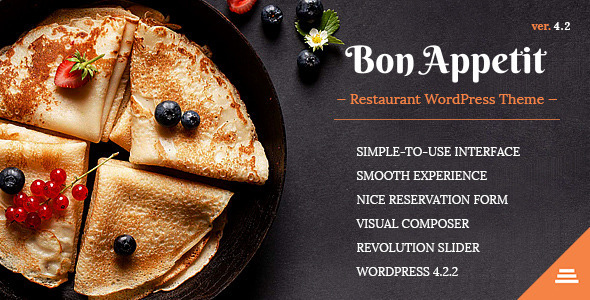 Bon Appetit v4.5 — Restaurant WordPress Theme