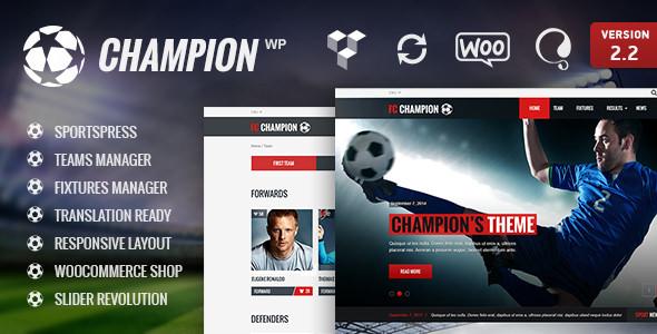 Champion v2.9 — Soccer & Football WordPress Theme