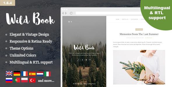 Wild Book v1.6.4 — Vintage, Elegant & Summer