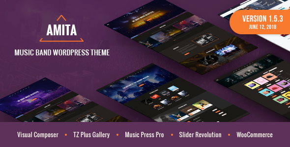 AMITA v1.5.3 — Music Band WordPress Theme