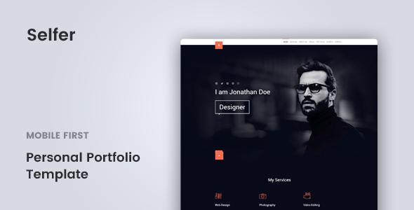 Selfer — Personal Portfolio Template