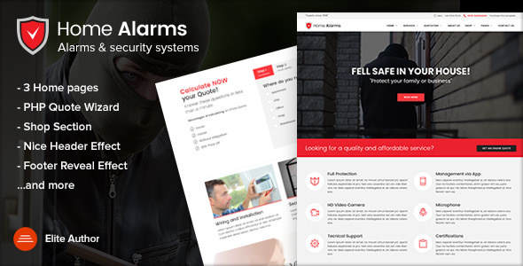 HomeAlarms v1.2.1 — Alarms and Security Systems Site Template