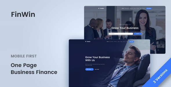 FinWin v1.1.2 — One Page Business Finance Template