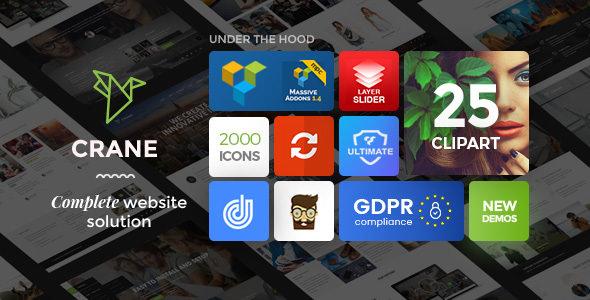 Crane v1.0.7 — Highly Customizable Multipurpose Theme