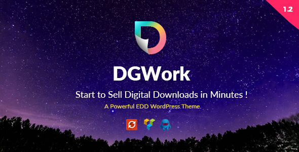 DGWork v1.3.4 — Powerful Responsive Easy Digital Downloads