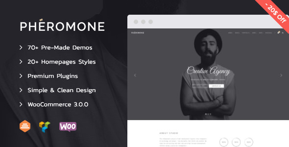 Pheromone v1.2.3 — Creative Multi-Concept WordPress Theme