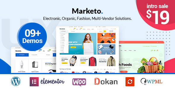 Marketo v1.0.6 — ECommerce & Multivendor Theme
