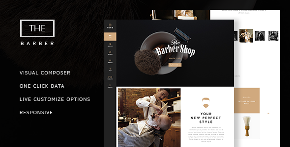 The Barber Shop v1.7 — One Page Theme For Hair Salon