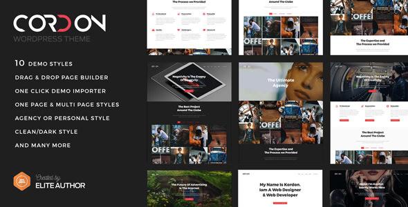 Cordon v1.1.1 — Responsive One Page & Multi Page Portfolio Theme