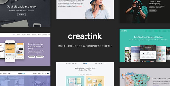 Creatink v1.0.5 — Multi-Concept Responsive WordPress Theme