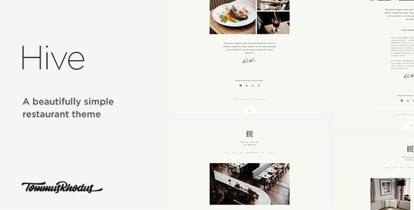 Hive v1.0.2 — Restaurant & Cafe WordPress Theme